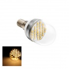 E14 5W 160lm 3000K 30xSMD 2835 LED Warm White Energy Saving Light Bulb - White (AC 220V)