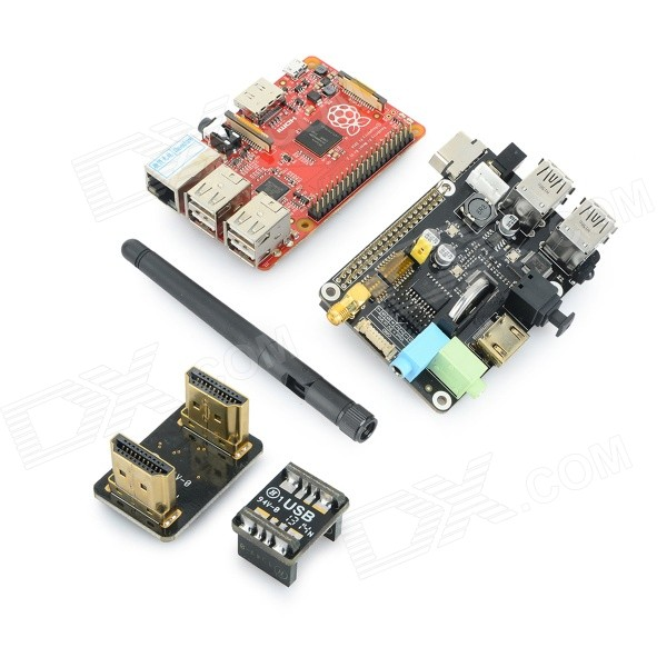 Raspberry Pi B+ (B Plus) + X200 Full Function Expansion Board Kit - Red