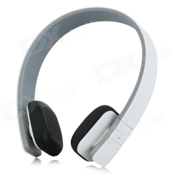 LC-8200 Headband Bluetooth V3.0 Stereo Music Headset w/ Mic. - White + Black