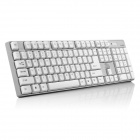 R.Horse FC-9033 sans fil 2,4 GHz 104-clavier + 800 / 3200dpi souris - blanc + Light Grey