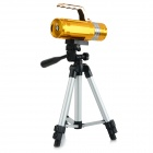 "0,9 ""LCD 200lm 3-mode Bleu / Blanc / Jaune LED Dimming Pêche Phare de poche - Gold"
