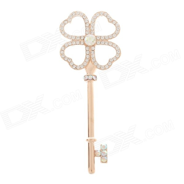 Women's Fashion Key Style Zinc Alloy Brooch - Golden