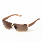 Men's Lightweight Stylish Resin Lens UV400 Protection Driving Sunglasses - Gold + Tawny