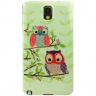 Cute Owl on the Tree Pattern TPU Back Case for Samsung Galaxy Note 3 - Green
