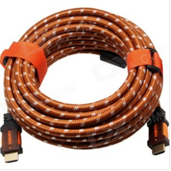 Yellow Knife YK72 HDMI v1.4 Male to Male Digital HD Connection Cable - Brown + White (12m) universal hdmi 19 pin 1080p hd cable brown transparent 5m