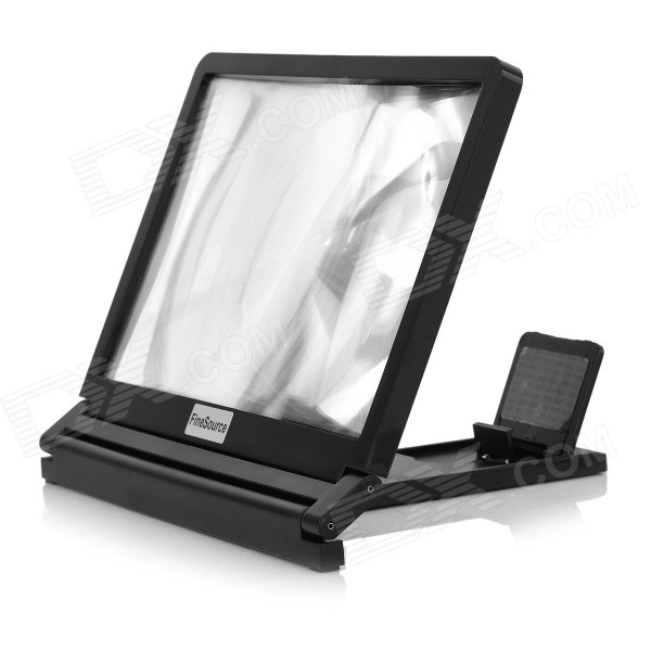 Phone Screen 3X Magnifier Stand for Phone Size Below 7 - Black portable 8 2inch 3x phone screen magnifier enlarge stand hd plexiglass