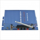 CARKING CS060 DX-234 Hi-Fi Stereo Audio Amplifier w/ FM / SD / USB / Controller for Car - Blue