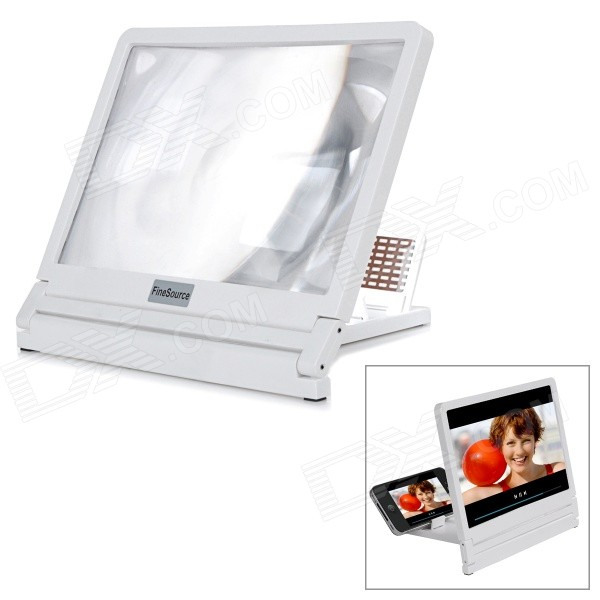 Fine Source Screen Enlarging Magnifier Desktop Mount Holder for Mobile Phones - White simple fashion table desktop is mdf fine processing the leg of the table is made of solid beech black and white can be chosen