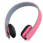 LC-8200 Headband Bluetooth V3.0 Stereo Music Headset w/ Mic. - Pink + Black