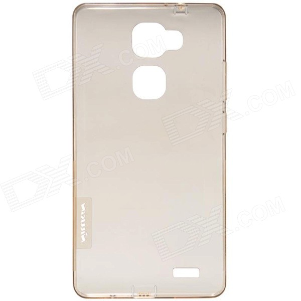 NILLKIN Ultra-thin Protective TPU Back Case for HUAWEI Ascend Mate7 - Translucent Brown nillkin ultra thin protective tpu back cover case for samsung galaxy alpha g850f translucent brown