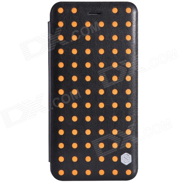 NILLKIN POP Series Protective PU Leather Case for IPHONE 6 Plus 5.5 - Black + Orange гарнитура philips she3590 purple