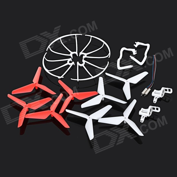 JJRC KH5C-002 Replacement Blade + Guard Circle + Undercarriage + Motor Support Set for JJRC / SYMA 4pcs syma x5 x5c anti clockwise main motor x5 07 clockwise motor x5 08 cw ccw