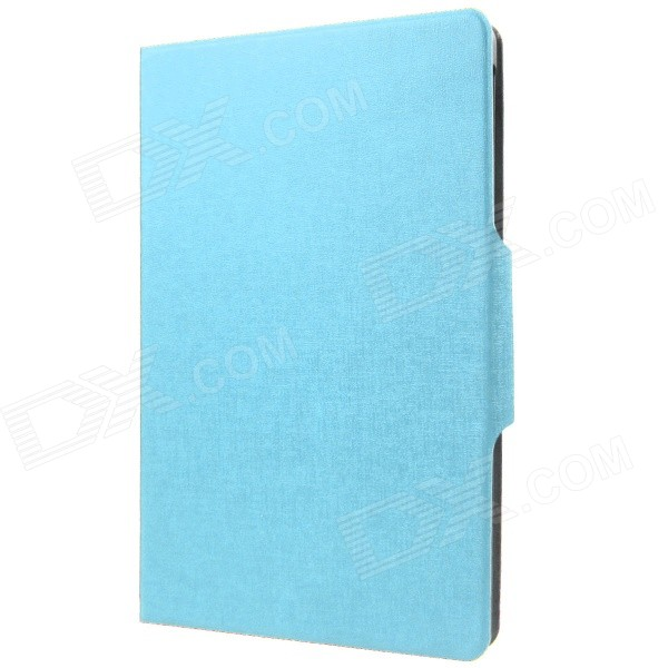 Protective PU Flip-Open Case w/ Stand / Auto Sleep for Google Nexus 9 - Blue lichee pattern protective pu leather case stand w auto sleep cover for google nexus 7 ii white