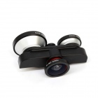 Ampla Lens Angle 180 Degree Frente Fish Eye Camera 4-in-1 Fish Eye + Marco + 0,4X para o iPhone 6