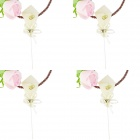 FEIS 08B-51 Heart-Shaped Cake Toppers - Ivory (4 PCS)
