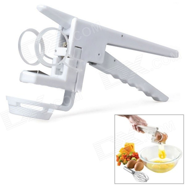 NEJE Handy Egg Cracker Beater w/ Separator - White