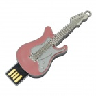 liga de zinco guitarra elétrica do estilo USB 2.0 flash drive - rosa (8GB)