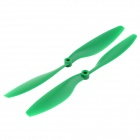 10 x 4.5mm Plastic Propellers Set for R/C Quadcopter / Multicopter - Grass Green + Black
