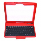 P900 Bluetooth Keyboard w/ Case for Samsung Galaxy Note Pro P900 - Red