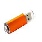 HanGreat 20 Aluminum USB 2.0 Flash Drive - Transparent + Orange (64GB)