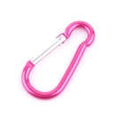 Outdoor Sports Aluminum Alloy Quick-Release Carabiner Keychain Hook - Deep Pink