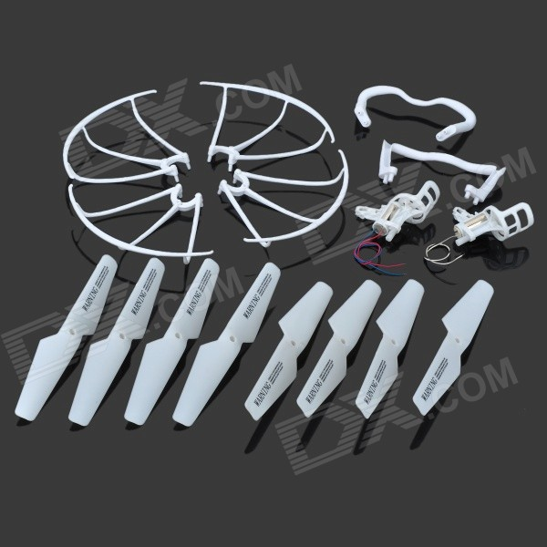 JJRC KH5C-001 Replacement Blade + Guard Circle + Undercarriage + Motor Support Set for JJRC / SYMA 4pcs syma x5 x5c anti clockwise main motor x5 07 clockwise motor x5 08 cw ccw