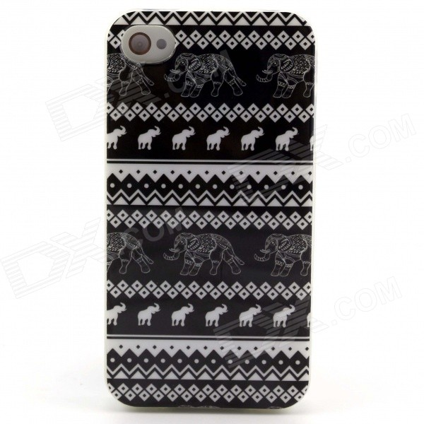Tribal Tattoo Pattern Protective TPU Soft Back Case for IPHONE 5 / 5S - Black + White мобильный телефон oppo x9077 find7 2k 4g