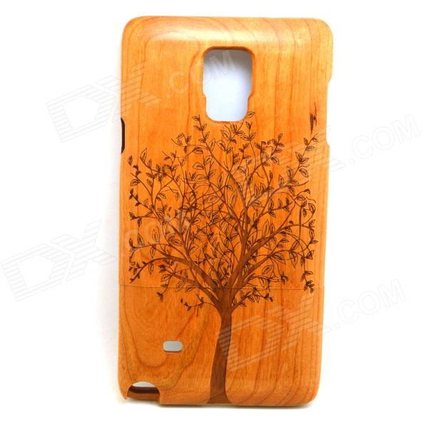 Tree Patterned Detachable Protective Wood Back Case Cover for Samsung Galaxy Note 4 - Brown 2 in 1 detachable protective tpu pc back case cover for samsung galaxy note 4 black