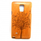 Tree Patterned Detachable Protective Wood Back Case Cover for Samsung Galaxy Note 4 - Brown
