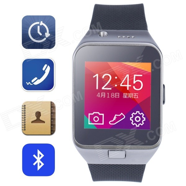 Aoluguya HW10 Smart GSM Watch Phone w/ 1.55 Screen, Bluetooth, Anti-lost, 1.3MP, 128M + 64M - Black diweinuo d6 bluetooth v3 0 mtk6260a gsm smart watch phone w 1 54 mipi hd screen black