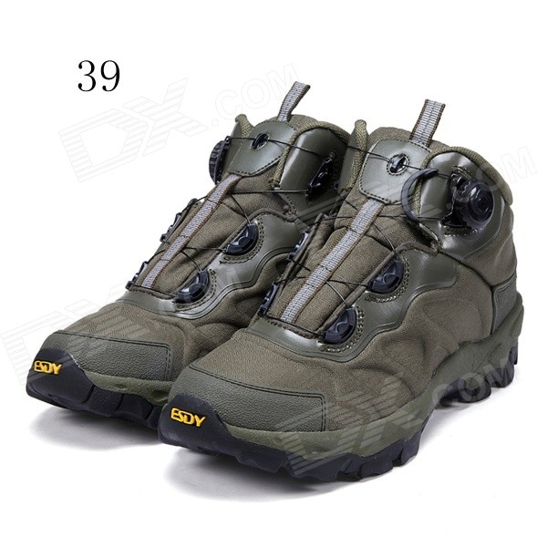 ESDY KF39-002 Men's Outdoor Hiking Climbing Anti-Slip Tactical Boots Shoes - Army Green (39)