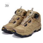 ESDY KF39-003 Herren Outdoor Wandern Klettern Anti-Rutsch-Tactical Stiefel Schuhe - Tan (39)
