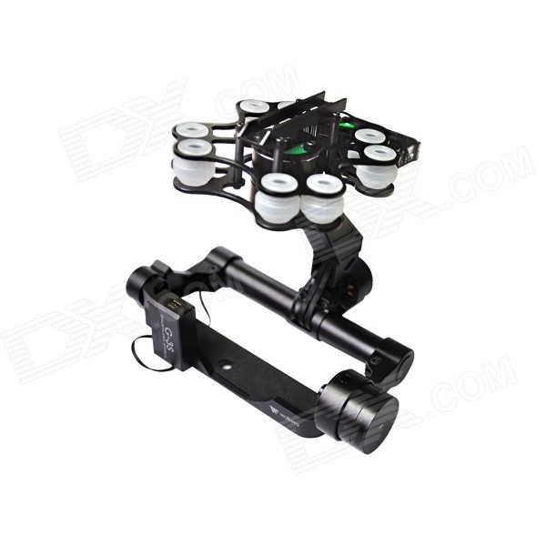 Walkera G-3S Brushless Motor Gimbal High Aluminum Support SONY RX100II Camera - Black hj5208 75t brushless gimbal motor for 5d2 camera fpv aerial photography black