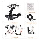 Walkera G-3S Brushless Motor Gimbal High Aluminum Support SONY RX100II Camera - Black