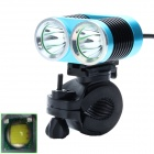 Buy ZHISHUNJIA ZSJ360-B22 1600lm 4-Mode White 2-LED Bicycle Lamp Bike Mount - Blue + Black (4 x18650)