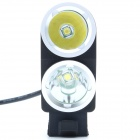 ZhiShunjia ZSJ-B2 1800lm Neutral White 2-LED 4-mode High / Low Beam Bike Headlamp - Black