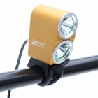 ZhiShunjia ZSJ-B2 1800lm Neutral White 2-LED 4-mode High / Low Feixe bicicleta Farol - Golden