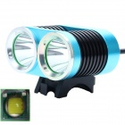 ZHISHUNJIA ZSJ-B22 1600lm 4-Mode White 2-LED Bicycle Light - Blue + Black (4 x 18650)