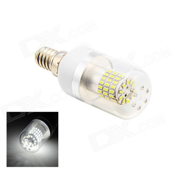 E14 5W 60 X SMD 3014 350LM 3000K White Light LED Corn Bulb (AC 85-265V) lexing lx r7s 2 5w 410lm 7000k 12 5730 smd white light project lamp beige silver ac 85 265v