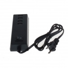 4-USB Outlet AC Power Adapter Socket Strip - Preto (US Plugs)
