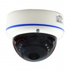 "BN-IP130DVIR 1/3"" CMOS 1.3MP 130 graden Wide Angle IP Camera w / 15-IR-LED / IR-CUT - wit + blauw"