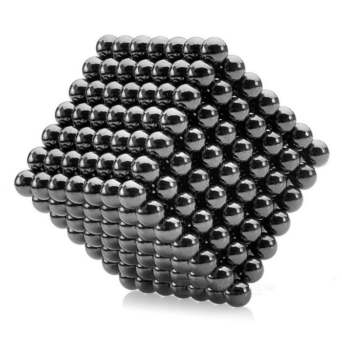 где купить NEJE 5mm Magnetic Balls Beads Sphere Cube Puzzle Neocube Intelligence Toy - Black (341 PCS) дешево