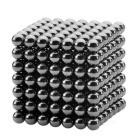 5mm Magnetic Beads Cube Puzzle Intelligence Toy - Black (343 PCS)