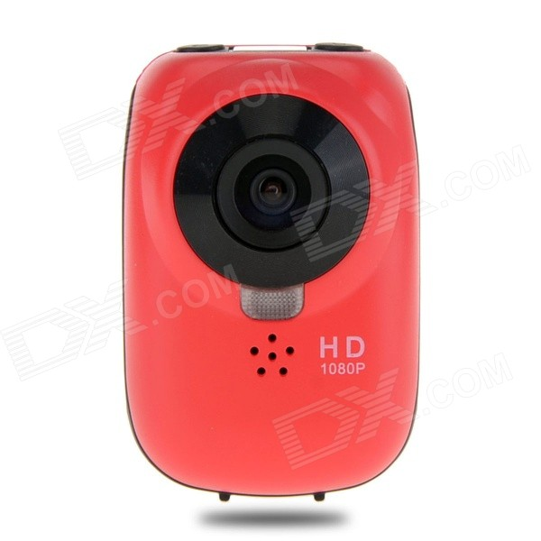 EOSCN W6 HD1080P Waterproof 12MP Wi-Fi Sports Camera w/ 0.5 OLED Panel / HDMI TV Out / TF - Red
