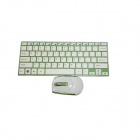 GLK-WMK03KW 2.4GHz Wireless 78-Key Keyboard + Optical Mouse Set - Green + White