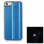 Creative USB Rechargeable Cigarette Lighter Protective Back Case for IPHONE 5 / 5S - Blue + Silver