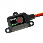 Electronic Power Switch for Nitro R/C Car - Black + Red
