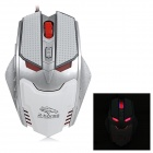 R.Horse FC-1591 Colorful Light 6-Key USB 2.0 Wired LED Gaming Mouse - White