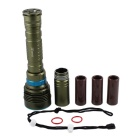 KINFIRE KF-D70 3200lm 7-LED 3-Mode Cool White Waterproof Diving Flashlight (2~3x18650/26650)