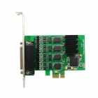 IOCREST IO-PCE354-PR4S 4-Port High Speed ​​serielle RS-422/485-PCI-Express-Karte - Grün